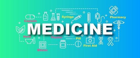 banner de moda de vector de medicina