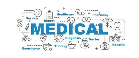 banner de vector médico