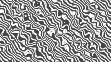 Black and white distorted abstract lines background