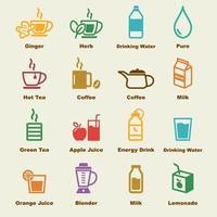 elementos de bebida saludable vector