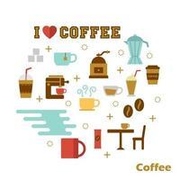 coffee flat design vector