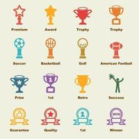 trophy vector elements