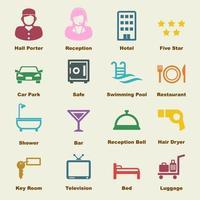 elementos de vector de hotel