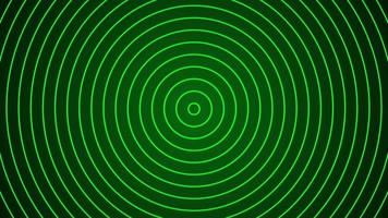 fundo de onda de frequência de círculo verde