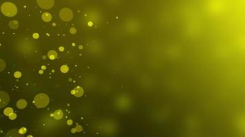 Golden Abstract Bokeh Particles Background