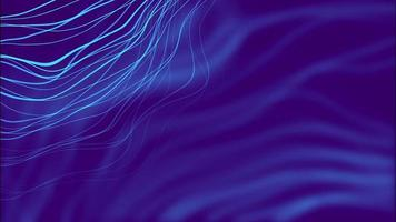 Blue distorted abstract lines background