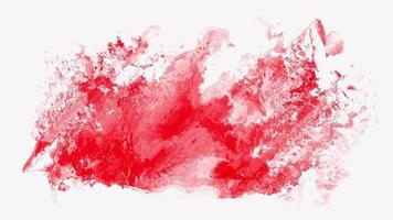 rode aquarel geanimeerde abstracte achtergrond video
