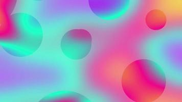 Blurred gradient abstract background with moving circles