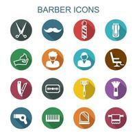iconos de la larga sombra de peluquero vector