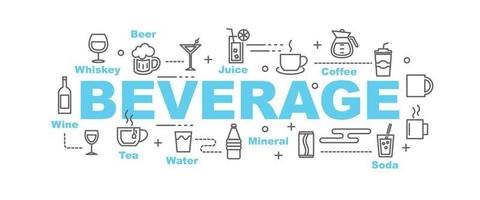 banner de vector de bebida