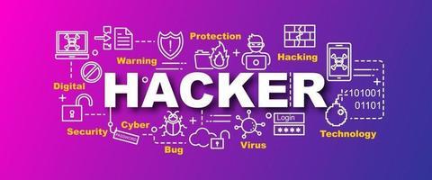 hacker vector banner de moda