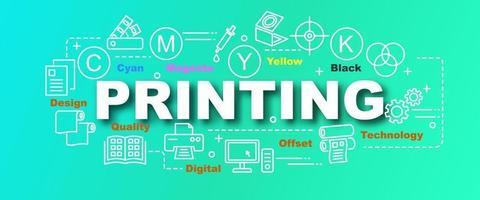 printing vector trendy banner