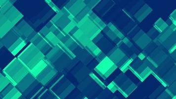 Fondo abstracto cuadrado verde animado del bloque
