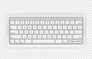 Modern wireless keyboard isolated vector