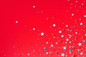 Abstract background with color stars vector
