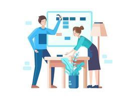 personas reunidas en la oficina.eps vector