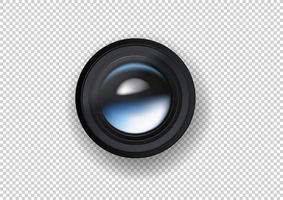 Ilustración de vector de lente de cámara de foto