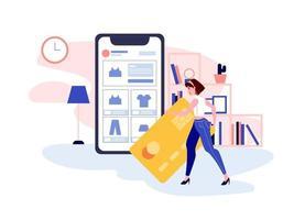 pago e-commerce checkout vector