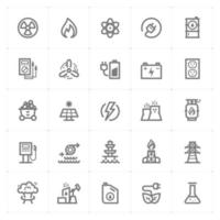 Energy and Power line icons. Vector illustration on white background.