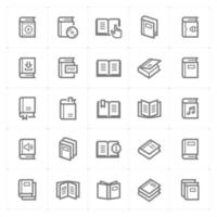 iconos de línea de libro. Ilustración vectorial sobre fondo blanco. vector