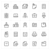 Office and Stationary line icons. Vector illustration on white background.