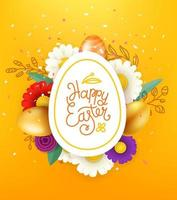 Easter card layout. Vector layered illustration