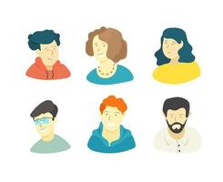 People isolated on white background. Comic style illustration vector