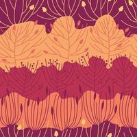 Seamless pattern beautiful autumn forest vector