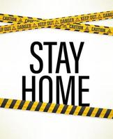 Stay home concept. 3d vector with text