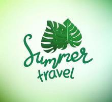 Floral vector logo. Summer travel concept