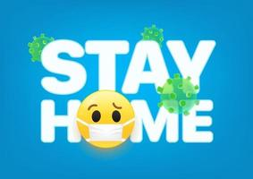 Stay home concept. 3d vector illustraction