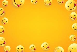 Wallpaper with smiling faces. Vector frame with copy space for social media web sites or banners