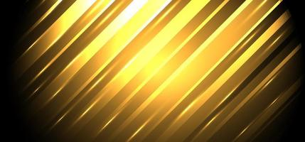 Abstract background golden diagonal stripes lines with glowing light vector