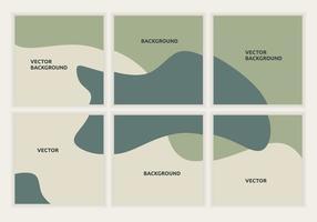 6 conjunto de plantilla de banner de rompecabezas cuadrado editable. Diseño de estilo minimalista para publicaciones en redes sociales. marco de combinación de colores pastel. bueno para publicidad comercial. ilustración vectorial vector