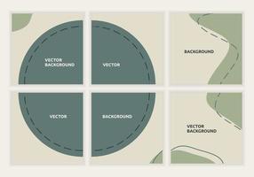 colección de diseño minimalista de plantillas de publicaciones en redes sociales. Fondo de rompecabezas de círculo cuadrado vectorial editable para marketing digital. utilizable para la alimentación de las redes sociales y el fondo. ilustración vectorial vector