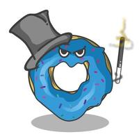 Magician cute donuts character vector template design illustration