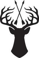 ciervos y flechas cruzadas ilustración vectorial vector