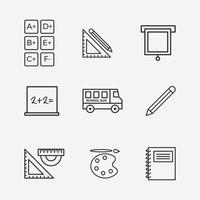 Vector illustration of education icon on grey background