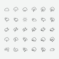 set of weather symbol icons. vector illustration of weather icons for graphic, website and mobile design.