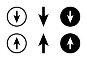 Arrow Up And Down Design Set Free Vector