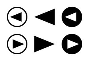 Arrow Right And Left Design Set Free Vector