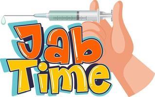 logotipo de tiempo de jab sobre fondo blanco vector