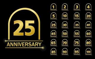 Anniversary celebration logotype set design