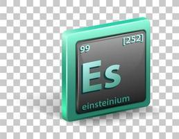 Einsteinium chemical element vector