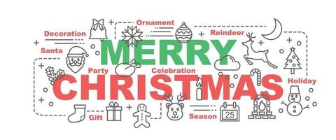 feliz navidad vector banner