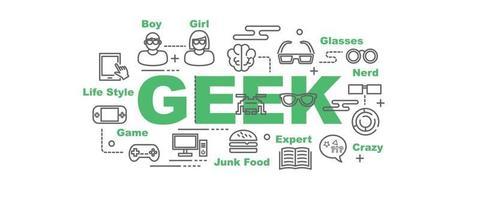 geek vector banner