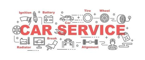 car service vector banner