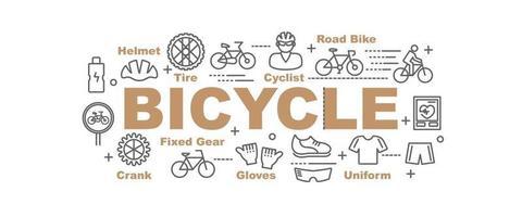 banner de vector de bicicleta