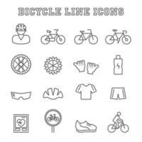 iconos de línea de bicicleta vector