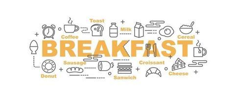 breakfast vector banner